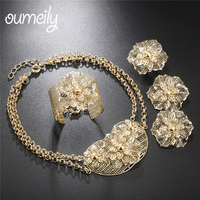 OUMEILY Jewelry Sets Luxury Wedding Women Jewellery Set Trendy Indian Bridal Jewelry Sets Egyptian Fashion Costume