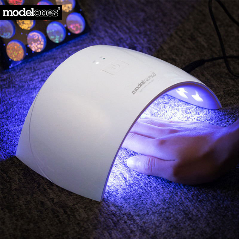 Modelones SUN9C 24W UV LED Lamp Nail Dryer for Nails Arched Shaped 9C Nail Lamp for UV Gel Polish Tools Machine Nail Art Dryer ultraviolet lamp for nails uv l mpara de u as de gel nail art gel cura uv l mpada de cura secador nail tools nail dryer led lamp