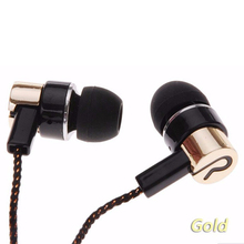 Bass Sound Metal Earphone Stereo Music Headset for iphone 6 Samsung Sony IOS Android Headphone MP3 MP4 Braided Cable Earbuds