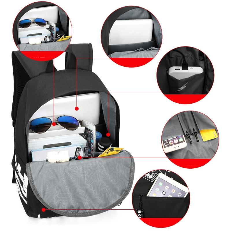 2019 fashion Luminous cute schoolbag For teenage teenagers kids backpack to school bag Student book bag bookbag for boys girls