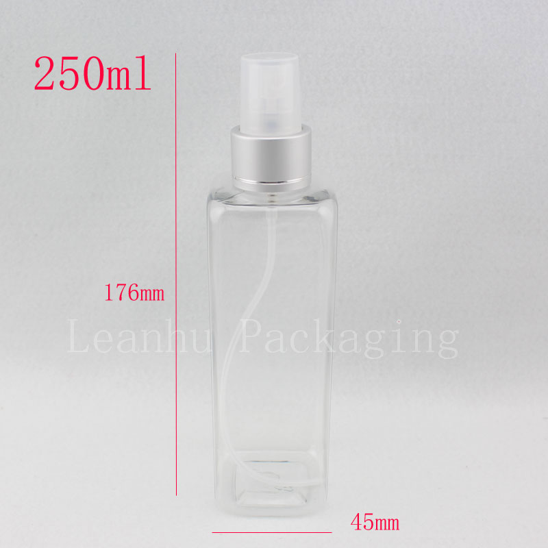 d64293e80d33 US $41.59 5% OFF|250ml X 20 empty clear makeup setting spray pump bottles,  250cc transparent mist spray perfume plastic refillable container-in ...