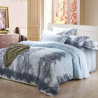 New 100 Comfortable Bamboo Fiber And Cotton Bedding Set Duvet Cover Sheet Pillowcases King Queen Double