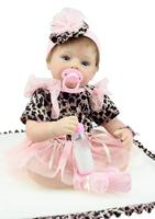 22 55cm Silicone Reborn Baby Doll Toy For Girl Lifelike Bebe Reborn Babies Play House Toy