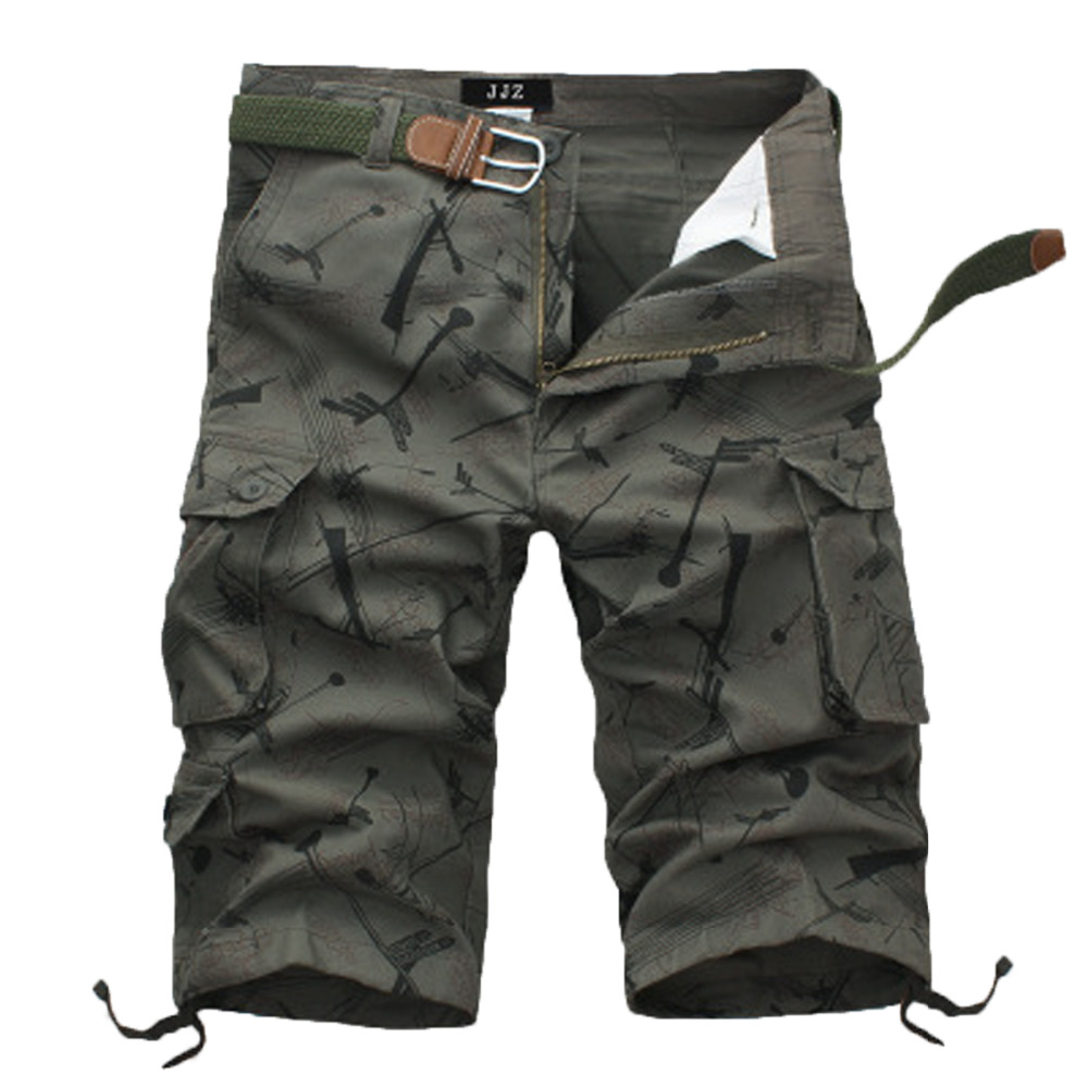 New 2018 brand mens casual camouflage Pattern loose cargo shorts men large size multi-pocket military short pants overalls