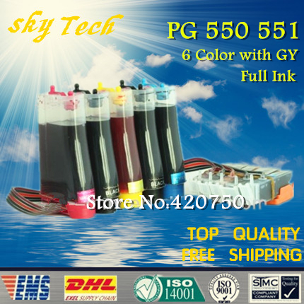 6 color full CISS for PGI550 CLI551 , suit for Canon MG6350  MG7150  iP8750 , With ARC chips , Full Ink 5 color ciss system for canon pgi 550xl cli 551xl pgi550 cli551 550 for canon mg5450 ip7250 7250 printer with arc chip