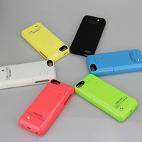 2 In 1 Detachable Version For IPhone 5 5S 5C 2200mAh Rechargeable Slim External Battery Backup