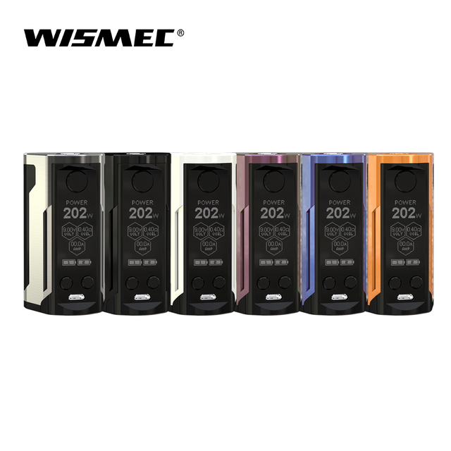 Оригинальный Wismec Рел RX GEN3 двойной Mod поле Max Выход 230 Вт VW/TC-Ni/TC- ti/TC-SS/TCR режим электронные сигареты vape mod