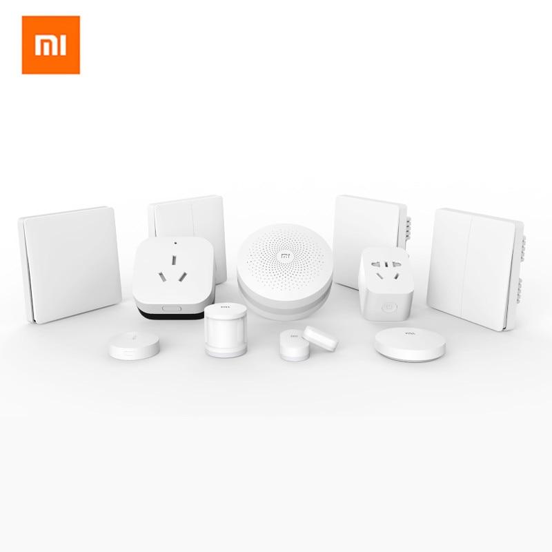 2019 Xiaomi mijia Gate-way+Door /Window,Temperature / Humidity / WIFI Amplifier 2,Human Body Sensor,Smart Socket Smart Home Kit