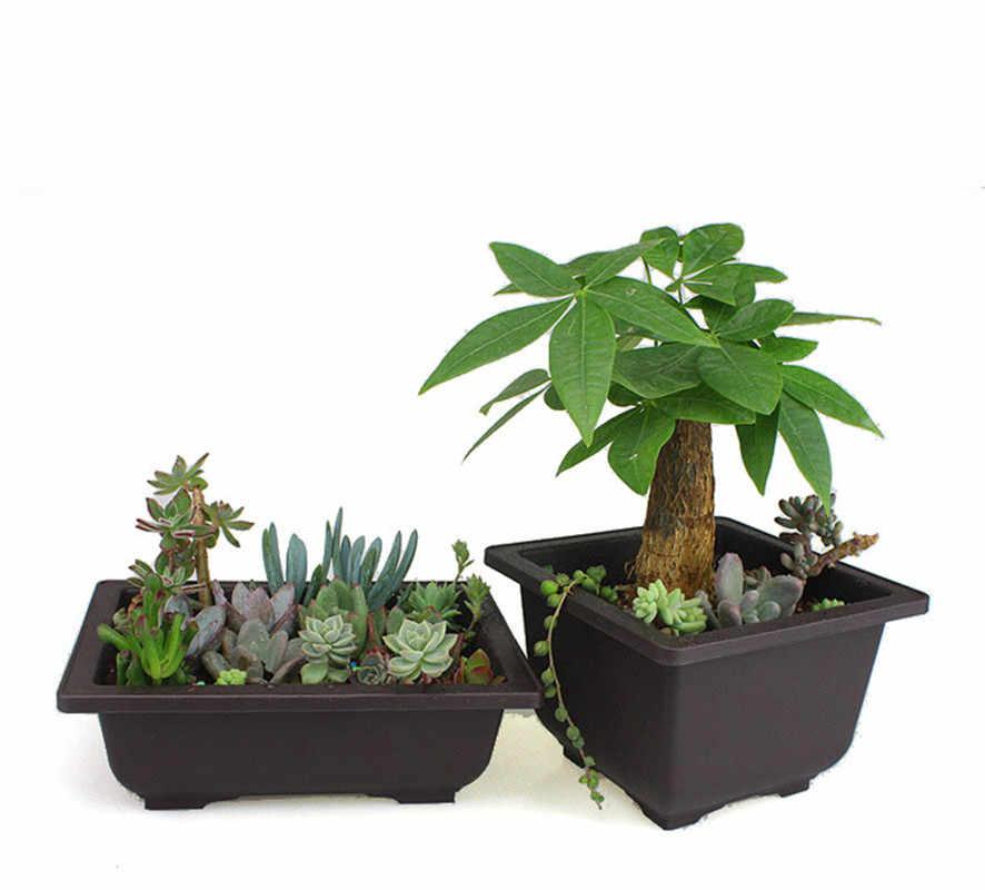 Vaso de flores De Plástico Imitação Plantador Varanda Flor Bonsai Tigela Berçário Bacia Potes De Plástico Quadrado Imitação Retângulo