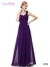 Лонго феста одно шифон плечо фиолетовый невесты цветы де свадебные мягкий