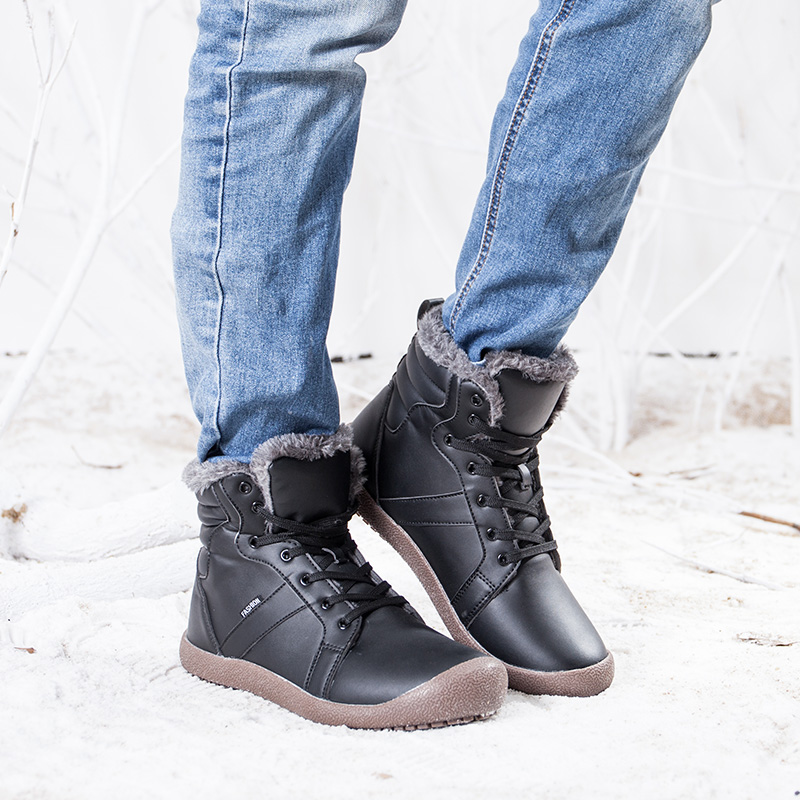 En Taille bleu Cheville Casual Cuir Noir Plus Botas De khaki D'hiver Hommes Bottes Chaussures Chaud Mâle Hiver Hombre L'hiver Tennis gris Sneakers Pour pqcPRXw7O