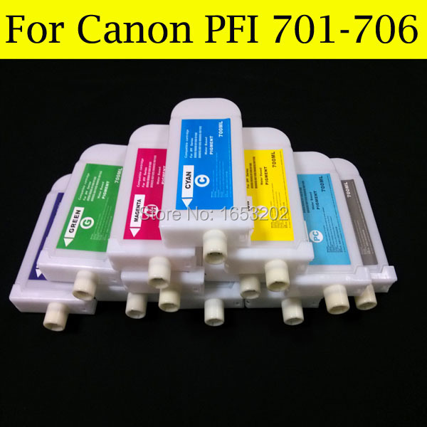 700ML(12PCS) Refillable Ink Cartridge For Canon PFI-704 For Canon iPF8300 iPF8310 Printer Without Chip color ink jet cartridge for canon printers 821 820 series