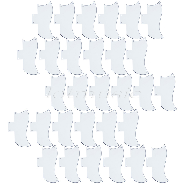30Pcs Standard Pickguards 3PLY Guitar Scratch Plate Parts White ABS For Electric Guitar Replacement musiclily 3ply 290 435mm electric guitar bass pickguard material pick guard scratch plate sheet blank