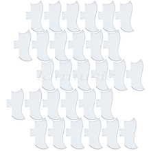 30Pcs Standard Pickguards 3PLY Guitar Scratch Plate Parts White ABS For Electric Guitar Replacement