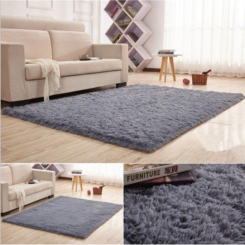 120x160 cm tapis 4.5 cm épaissir grand tapis de salon tapis en peluche tapis pour salle à manger chambre tapis