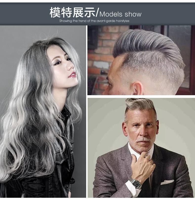 Mofajang Hair Dye Gray Color Hair Wax One Time Molding Paste Grandma