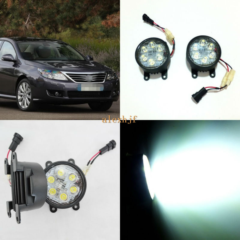 July King 18W 6LEDs H11 LED Fog Lamp Assembly Case for Renault Latitude 2011 etc, 6500K 1260LM Daytime Running Lights