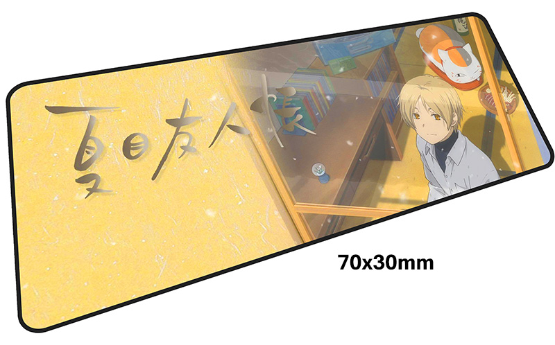 natsume yuujinchou mousepad gamer 700x300X3MM gaming mouse pad Birthday notebook pc accessories laptop padmouse ergonomic mat