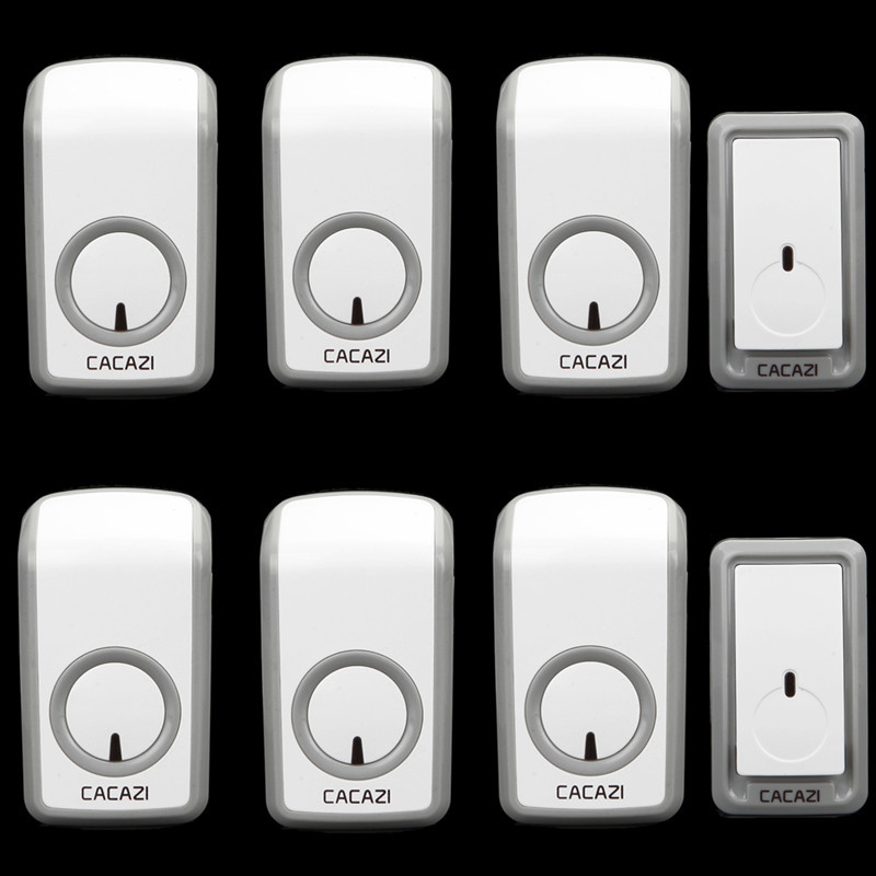 2 doorbell buttons+6 doorbell receivers 350M remote control AC 110-220V Waterproof button elderly pager Wireless doorbell 2 receivers 60 buzzers wireless restaurant buzzer caller table call calling button waiter pager system
