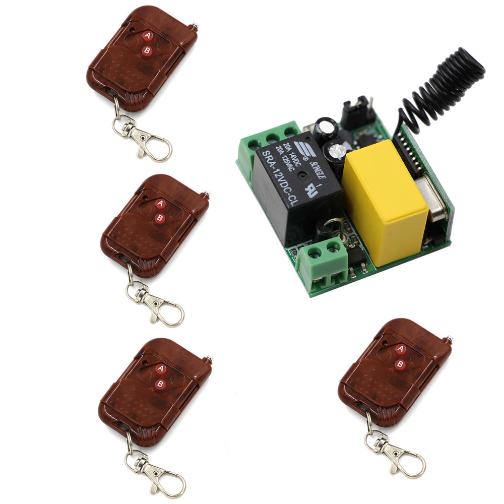 AC 220V 1 CH Mini Remote Control Switch 10A Relay Small Receiver Light Lamp LED Bulb Wireless Remote Lighting Switch 315/433Mhz keyshare dual bulb night vision led light kit for remote control drones