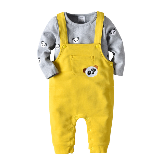 076d9fb21e6 ... para bebés y niñas + conjuntos ropa informal algodón niños. Baby Boys  Girls Rompers Long Sleeve Cute Cartoon Panda Printed T Shirt Overalls  Casual Suits ...