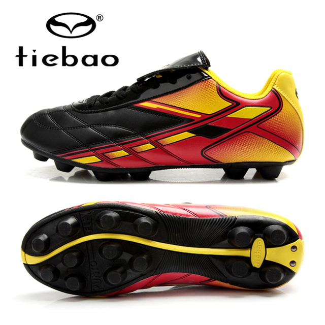 TIEBAO Professional National AG Soles Football Boots Outdoor Soccer Shoes Men Women Training Sneakers EUR 39-44