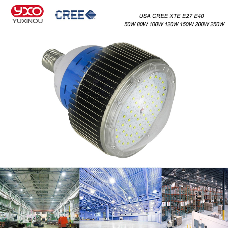 100w 120w 150w 200w 250w 300w cree LED high bay Light lamp Bulb,led industrial light for factory/ warehouse/Shopping Mall Store 10pcs 150w 200w 250w led high bay light led factory hood lamp hanging tube high bay lamp industrial 5 years warranty
