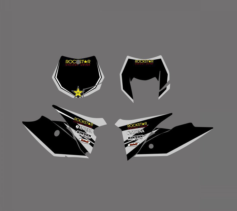 0607 Star Black NEW STYLE TEAM GRAPHICS WITH MATCHING BACKGROUNDS For KTM 125 200 250 300 350 450 500 EXC 2012 2013 XC 2011