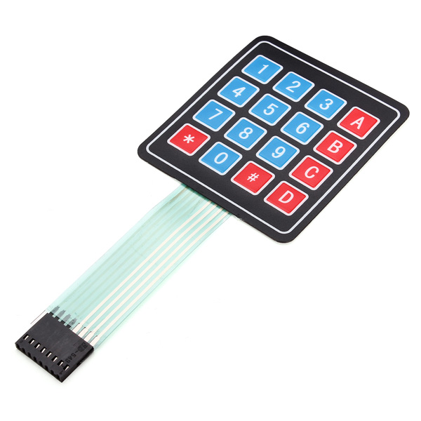 DC 35V 16Keys 8Pin 4 X 4 SCM Matrix Microcontroller External Expansion Keyboard Contral Board Membrane Keyboard