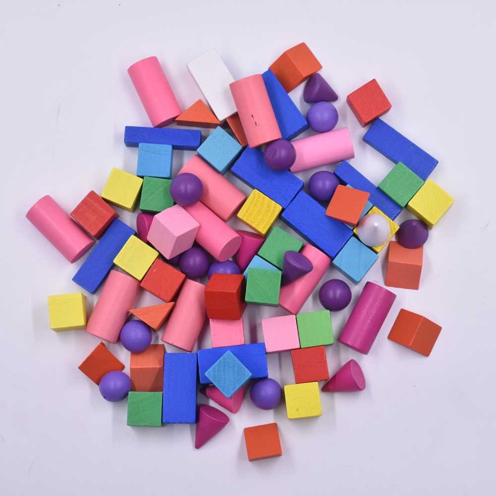 70Pcs/Sets New Colours Wooden Geometric Solids 3-D Shapes Montessori Learning Resources for School Home70Pcs/Sets New Colours Wooden Geometric Solids 3-D Shapes Montessori Learning Resources for School Home