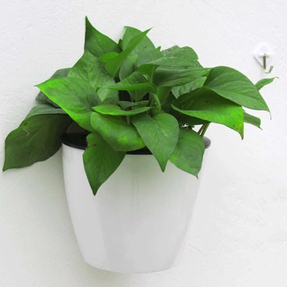 Design moderno Home Da Parede Pendurado Vaso de Flores Projeto da Forma Redonda Resina Chlorophytum Vaso Vasos de Flores Hidroponia Dropshipping