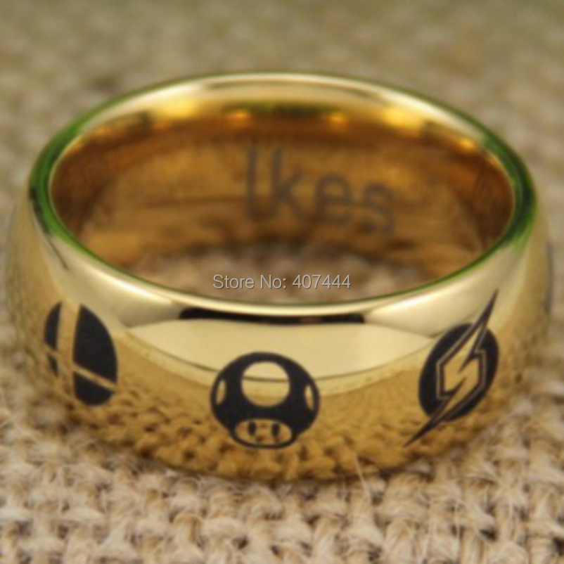 Free Shipping YGK JEWELRY Hot Sale Zelda Metroid Pokemon Mario Bros Star Fox Super Smash Mens Tungsten Ring In Rings From Jewelry Accessories On