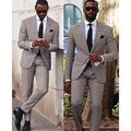 2016 Classic Plaid Men Suits Style 2 Buttons Groomsmen Peak Lapel Groom Tuxedos Men Wedding Best Man Suit (Jacket+Pants+Tie)