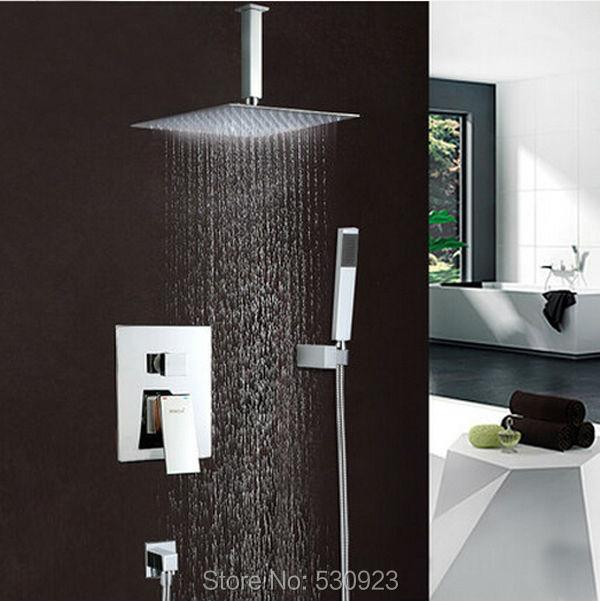 New Solid Brass Chrome Polished Bathroom Shower Faucet Set 6