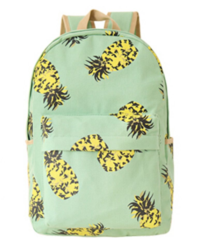 Tara Sergy Fresh Canvas Women Backpack School Bag for Teenagers Ladies Girl Back Pack Schoolbag Bagpack Mochila Fruit Pineapple tara 618 sonex