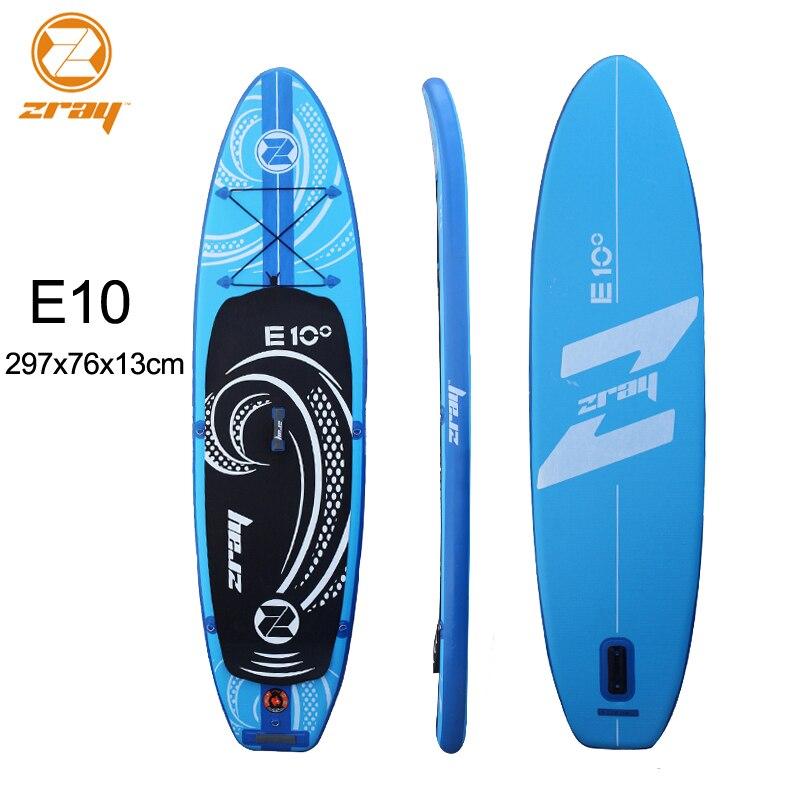 Planche de surf 297x76x13 cm JILONG Z RAY E10 sup gonflable stand up paddle surf kayak gonflable de sport bateau bodyboard