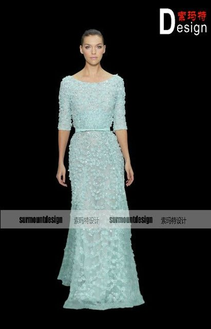 Elie saab New Arrival embroidered gown SLEEVES Haute couture dress ...