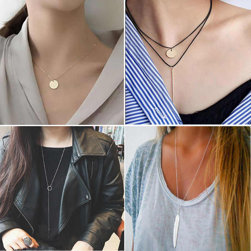 antic silver metal choker necklace punk design necklaces for women party jewelry gift