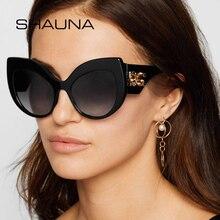 SHAUNA Luxury Crystal Decoration Oversize Women Cat Eye