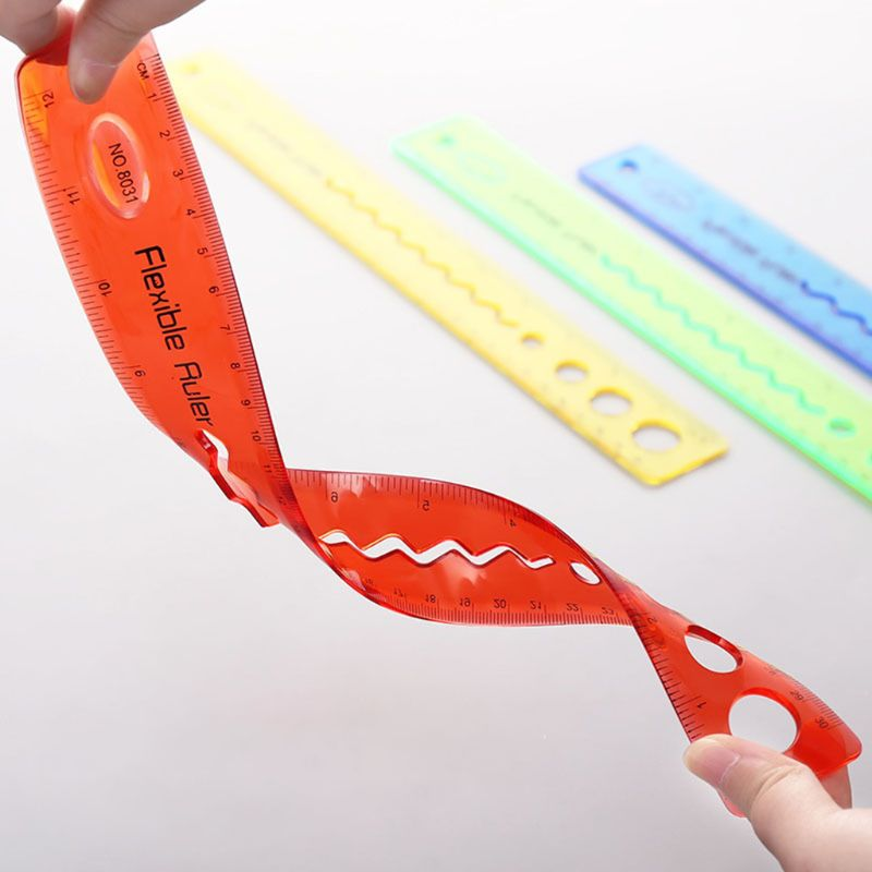 30cm Soft Flexible Ruler Multicolor Measure Straight Rulers Office School Supplies Stationery Students Kids Gifts