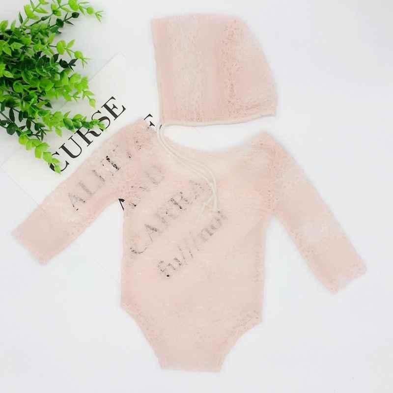 Accesorios para fotos de recién nacidos nueva ropa de fotografía de niños ropa de encaje recién nacido Luna Llena cien días bebé princesa sombrero Onesies