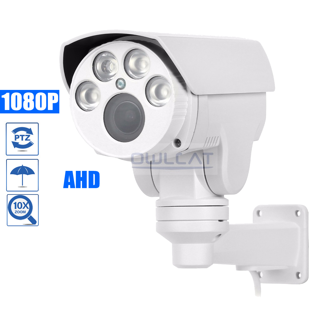 купить OwlCat HD 1080P AHD Bullet PTZ Camera Outdoor AHDH IR 4X 10X Pan Tilt Zoom 2.8-12mm 5-50mm Auto focus 2.0MP Security CCTV Camera по цене 6037.16 рублей
