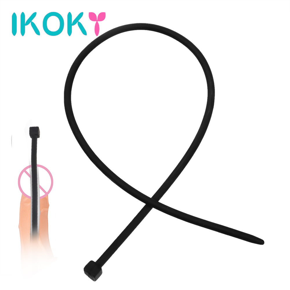 IKOKY 35cm Long Penis Plug Urethral Dilators Catheters Sex Toys For Men Soft Silicone Sex Sounds Masturbator Adult Products