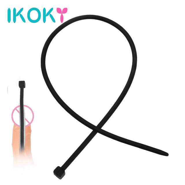 IKOKY 35cm Long Penis Plug Urethral Dilators Catheters Sex Toys for Men Soft Silicone Sex Sounds Masturbator Adult Products