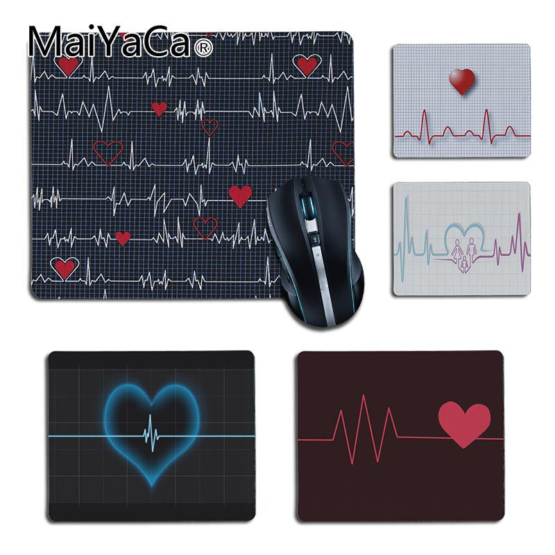 MaiYaCa Good Use Nurse Medical Medicine Health Heart Pad Mouse Gaming Mouse Pad Non-Slip Laptop Computer PC Gaming Mat Desk Mat