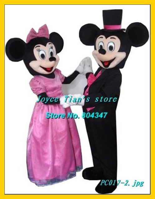 Newest Version Light Mickey Minnie mouse mascot costume Cartoon Mascot Character Costume For Adult Free Shipping