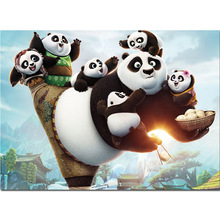 Food Diamond Painting kungfu Panda Cartoon Full Drill 5d Mosaic Embroidery Family Animal Cross-Stitch Art Home Decor Y66