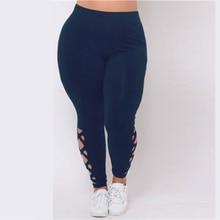 Big Size Women Leggings Black Slim Trousers Navy Fitness Buttom Plus Size Feminino Vintage Leggins Hollow Out Brief Pencil Pants