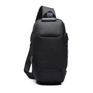 Image 2 - OZUKO 2020 nouveau sac à bandoulière multifonction pour hommes Anti vol épaule sacs de messager mâle étanche court voyage poitrine sac Pack
