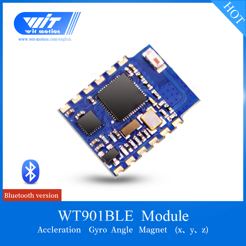 US $26 6 5% OFF|WitMotion WT901BLE Bluetooth BLE 4 0 Low consumption 3 Axis  Accelerometer Gyroscope Magnetometer MPU9250 Module For IOS/Android-in
